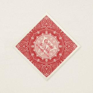 De Boheemse Douane van het Huwelijk van Paisley Papieren Servetten