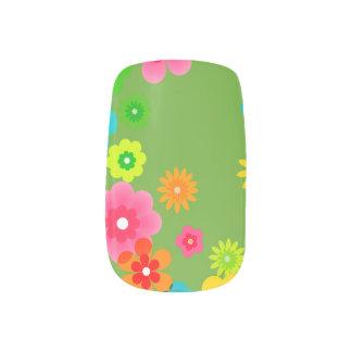 De Boheemse Retro Kleurrijke BloemenBloemen van Minx Nail Art