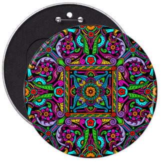 De Boheemse Stijl van het Gebrandschilderd glas Ronde Button 6,0 Cm