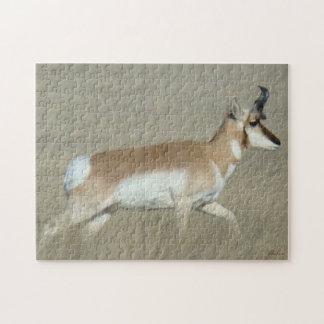 De Bok van de Antilope van Pronghorn van A0044 Legpuzzel