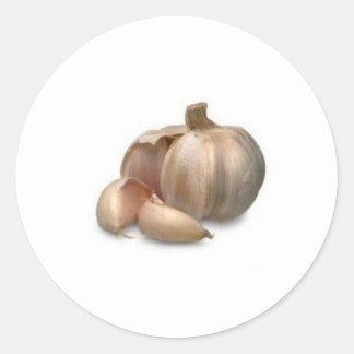 De bol van het knoflook ronde sticker