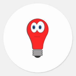 De Bol van het rood licht Ronde Sticker