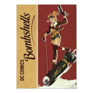 De Bom van Quinn van Harley 12,7x17,8 Uitnodiging Kaart