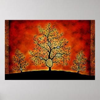 De bomen met Labyrinten Poster