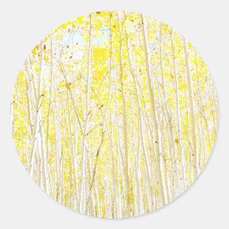 De bomen van de Esp van de Cake van de vanille Ronde Sticker