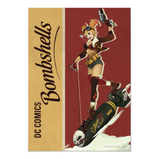 De Bommen Pinup van Quinn van Harley 12,7x17,8 Uitnodiging Kaart
