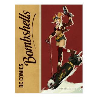 De Bommen Pinup van Quinn van Harley Briefkaart