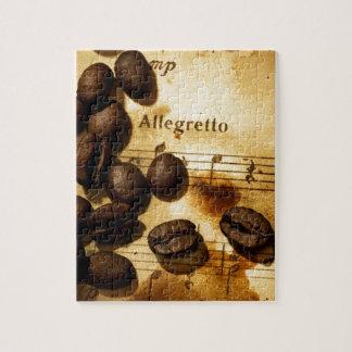 De Bonen van de koffie en de Nota's van de Muziek Legpuzzel