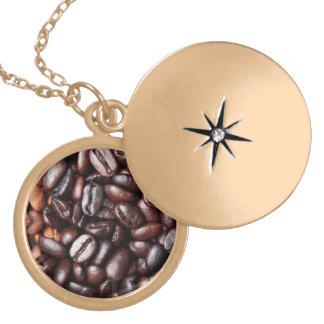 De Bonen van de koffie - gehele geroosterd licht e Goud Vergulden Ketting