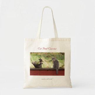 De Boodschappentas van het Voedsel van de kat Canvas Tassen