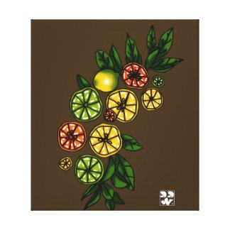 De Boog van de citrusvrucht Canvas Afdruk