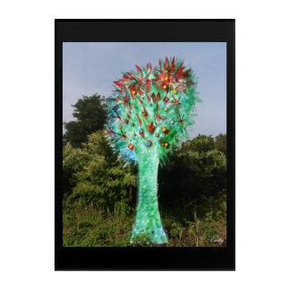 De boom flessen Limoges Acryl Muurkunst