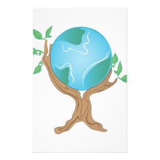 De Boom van de aarde Briefpapier