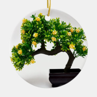 De boom van de bonsai rond keramisch ornament
