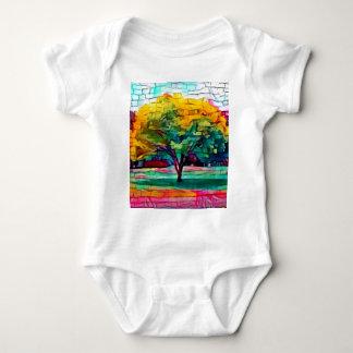 De boom van de herfst in levendige kleuren romper