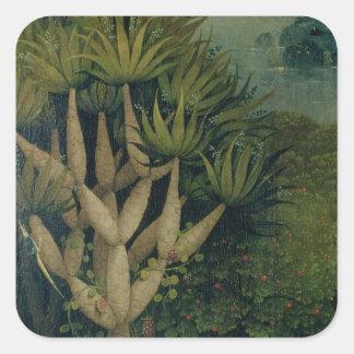 De boom van de Kennis van Goed en Kwaad Vierkante Sticker