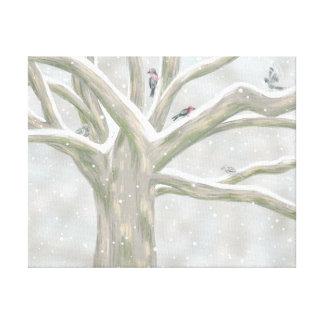 De boom van de Vogel Gallerij Wrap Canvas