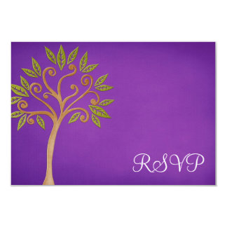De boom van het Leven wervelt Paarse Knuppel Kaart