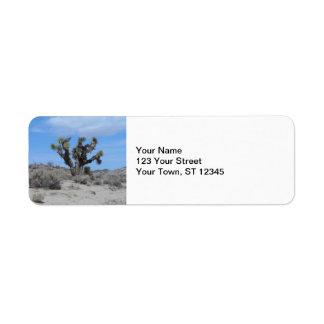 De Boom van Joshua van de Woestijn van Mojave Etiket