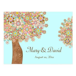 De boom van Liefde bewaart de Datum Briefkaart
