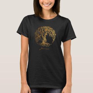 De Boom van Mehndi van het Leven (Goud) T Shirt