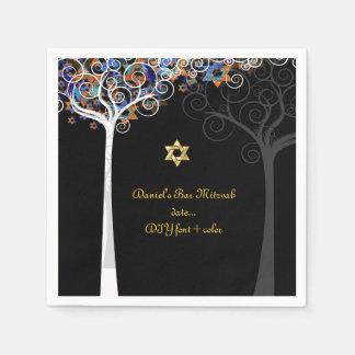 De boom van PixDezines van het leven/mitzvah Wegwerp Servet