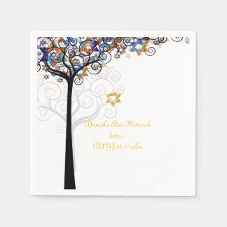 De boom van PixDezines van het leven/mitzvah Wegwerp Servetten