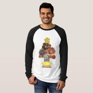 De Boom van Steampunk Geen Raglan Achtergrond van T Shirt