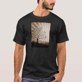 De boom verlaat het Silhouet & de Zonnestraal van T Shirt