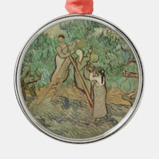 De boomgaard van de Olijf Zilverkleurig Rond Ornament