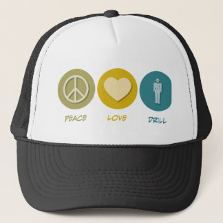 De Boor van de Liefde van de vrede Trucker Pet