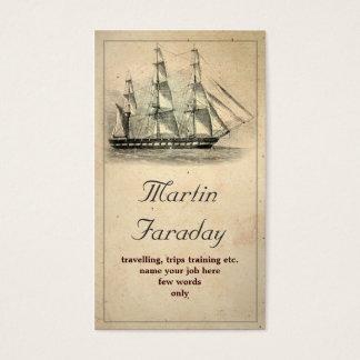 de boot mooi oud visitekaartje van het reisschip visitekaartjes