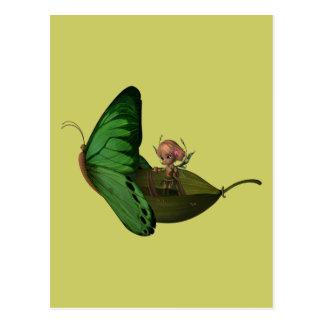 De Boot van de fee & van de Vlinder Briefkaart