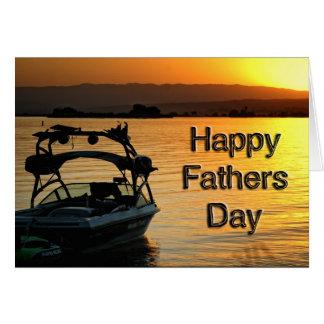 De boot van de Kaart van het vaderdag