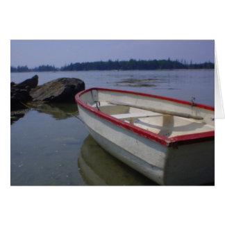 De Boot van de Rij van het Eiland van herten Briefkaarten 0