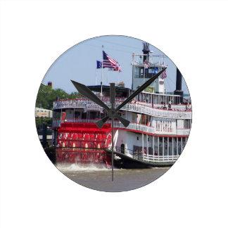 De Boot van de Rivier van New Orleans Louisiane de Ronde Klok