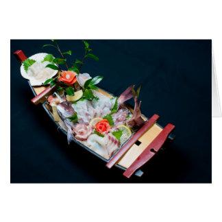 De Boot van de sashimi Kaart