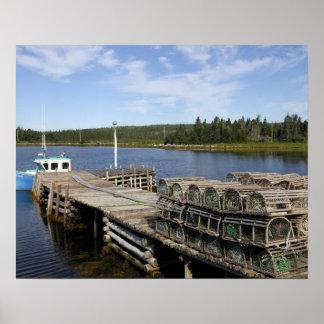 De Boot van de zeekreeft, Mushaboom, Nova Scotia,  Poster