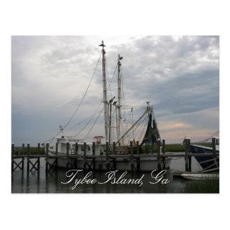 De Boot van garnalen Briefkaart
