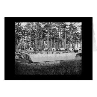 De Boot van het ponton bij Rappahannock Post, VA Briefkaarten 0