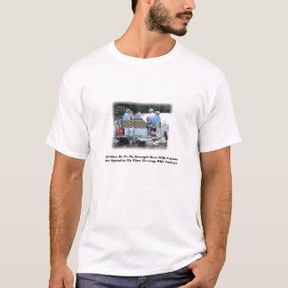 De Boot van het Ponton van Redneck, zou ik eerder T Shirt