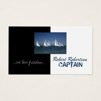 De Boot van het zeil Kapitein Ship Nautical Card Visitekaartjes