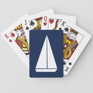 De Boot van het zeil Speelkaarten