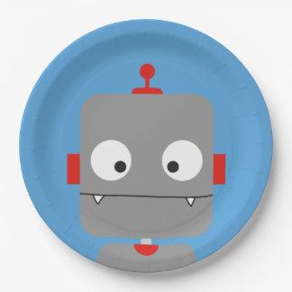 De Borden van de Partij van robots Papieren Bordje