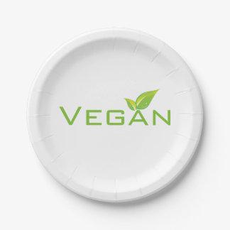 De Borden van de veganist Papieren Bordje