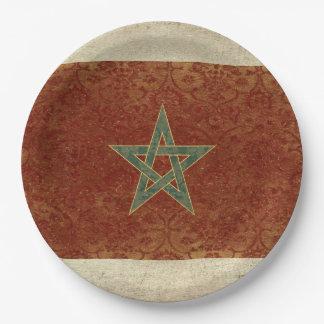 De Borden van het Document van de Vlag van Marokko Papieren Bordje