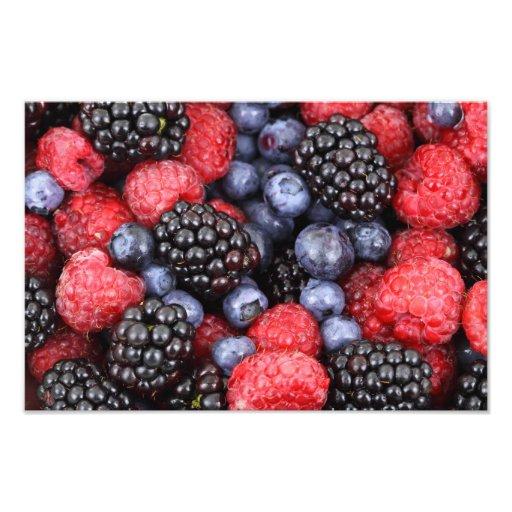 De bos Achtergrond van het Fruit Fotoprints