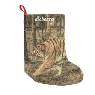 De bos Bos Majestueuze Wilde Tijger van het wild Kleine Kerstsok