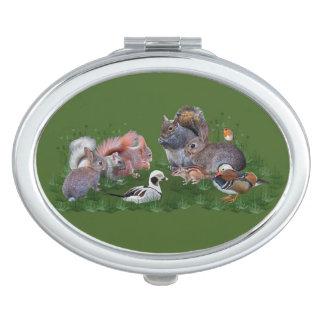 De bos Compacte Spiegel van Dieren Makeup Spiegels