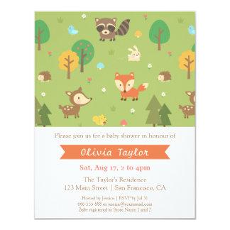De bos Dierlijke Uitnodigingen van het Baby shower
